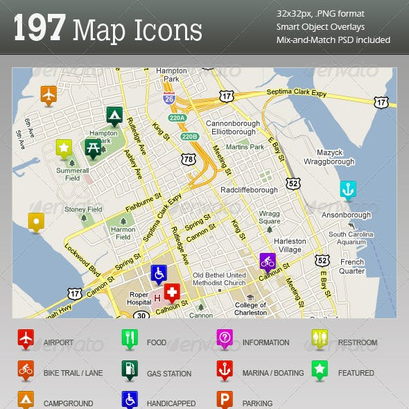 Ultimate GPS / Travel Map Location Icons