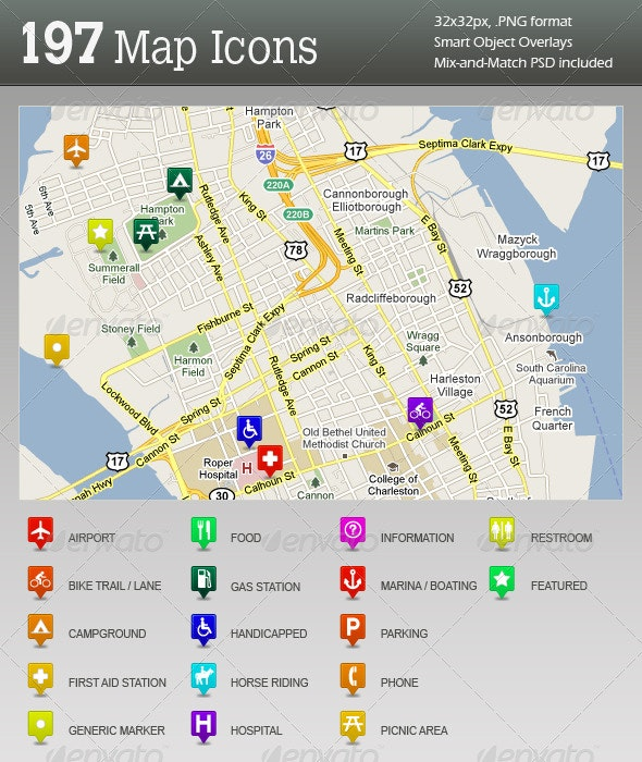 Ultimate GPS / Travel Map Location Icons - Web Icons