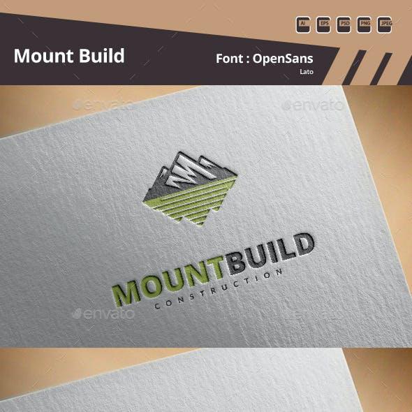 Mount Build Logo Template