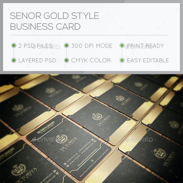 Senor Gold Style Business Card