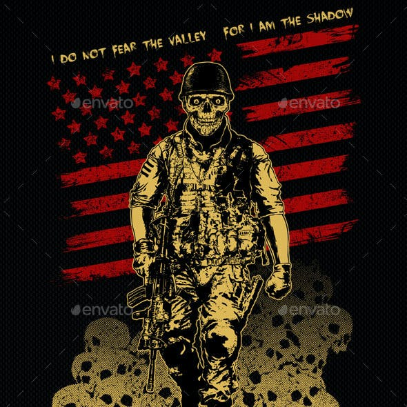 T-shirt Illustration The Skull Soldier