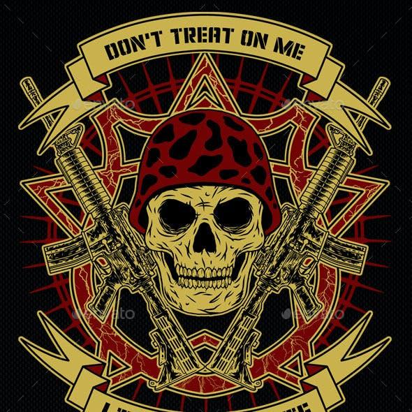Military Theme T-shirt Template