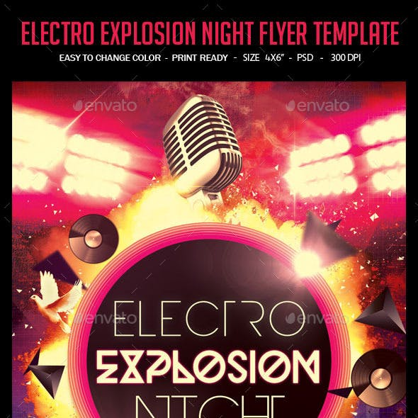 Electro Explosion Night Flyer Template