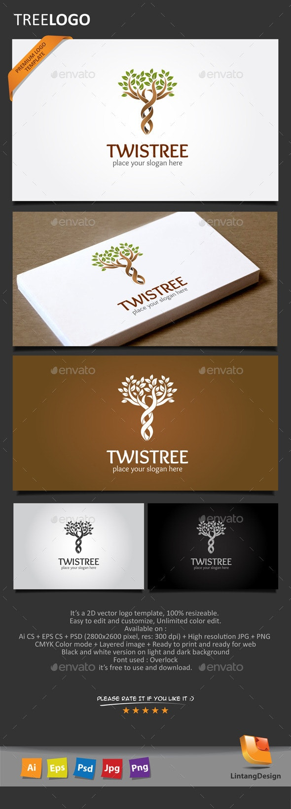 Tree Logo-008 - Nature Logo Templates