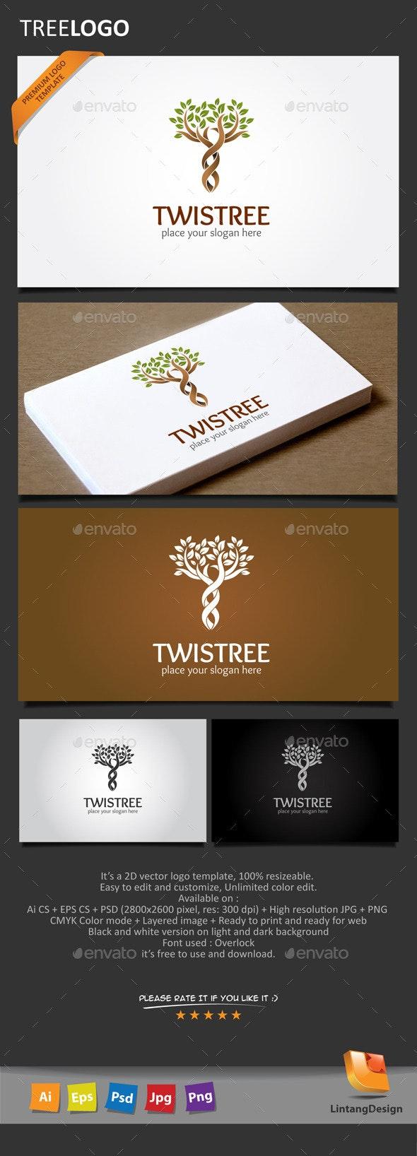 Tree Logo-008 - Nature Logo Templates