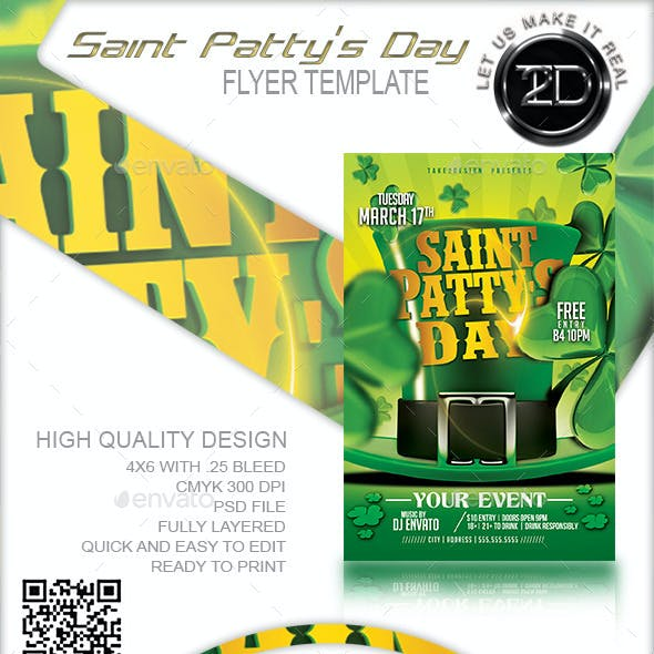 Saint Patty's Day Flyer Template