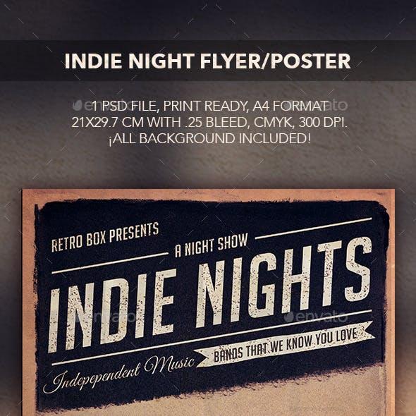 Indie Night Flyer/Poster