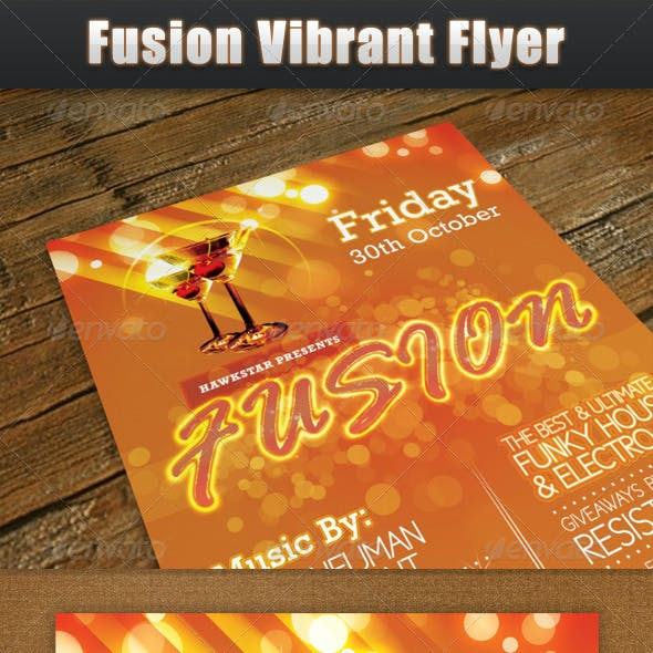 Fusion Vibrant Flyer
