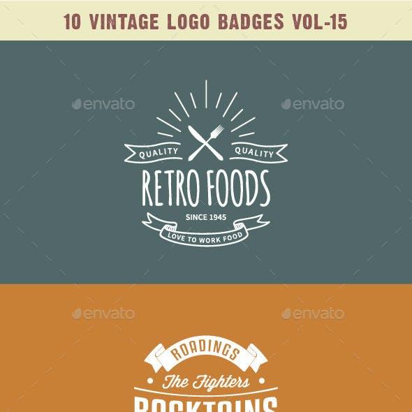 10 Vintage Logo Badges Vol-15