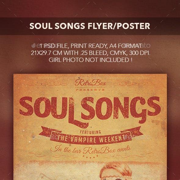 Soul Songs Flyer/Poster
