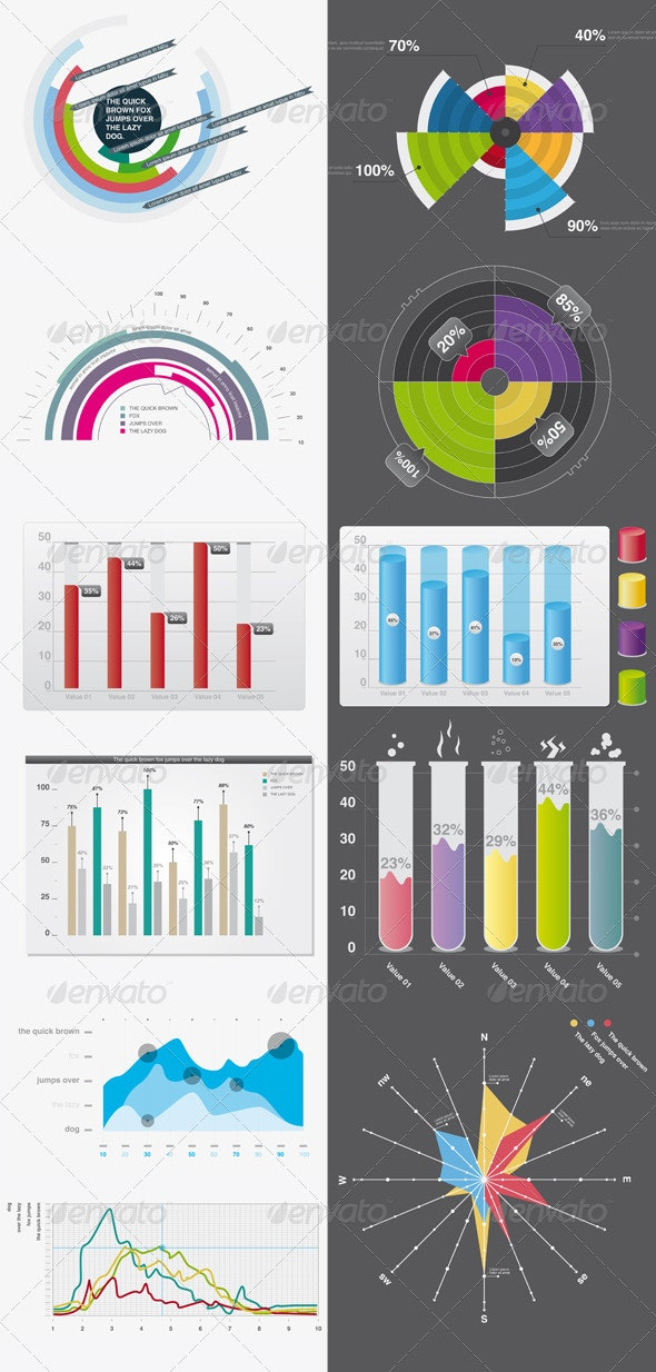 Infographic elements 01 - Infographics