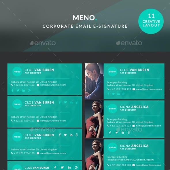 Corporate E-signature - Meno