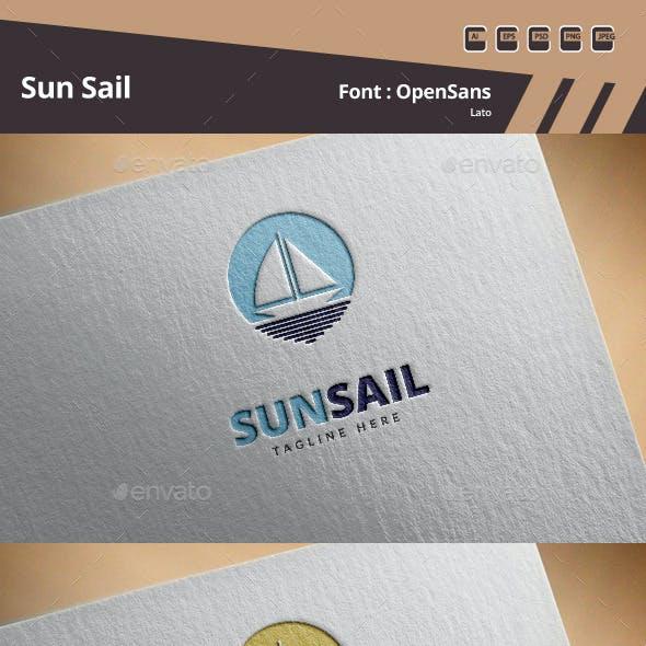 Sun Sail Logo Template