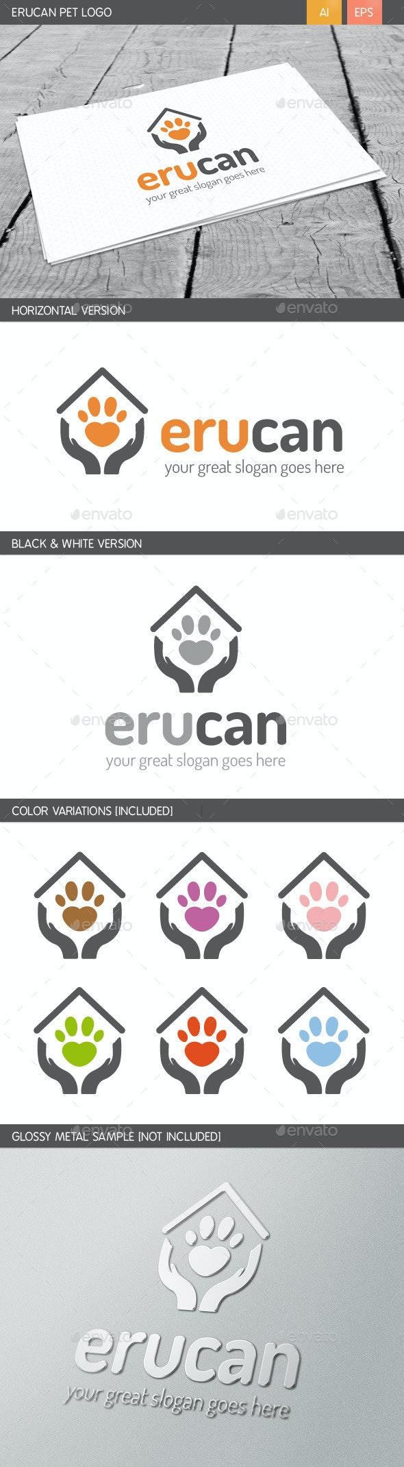 Erucan Pet Logo - Animals Logo Templates