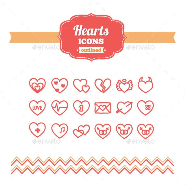 Hand Drawn Hearts Icons - Miscellaneous Icons