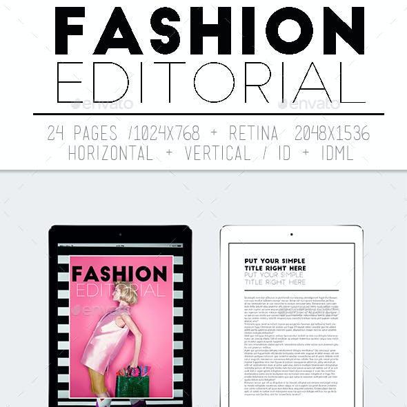 Tablet Fashion Editorial