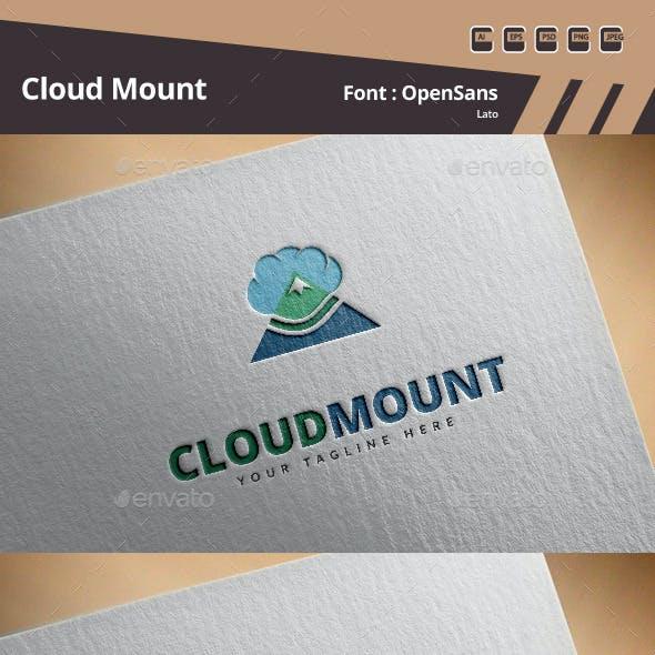 Cloud Mount Logo Template