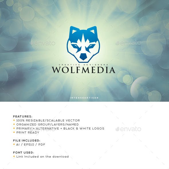Wolf Media Logo Template