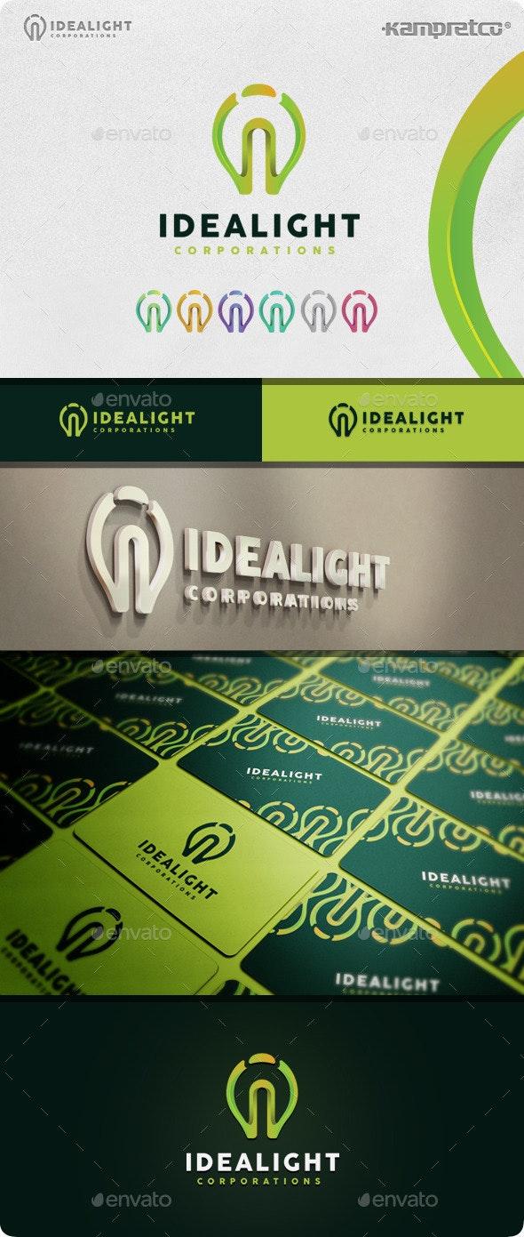 Idea Light Logo - 3d Abstract