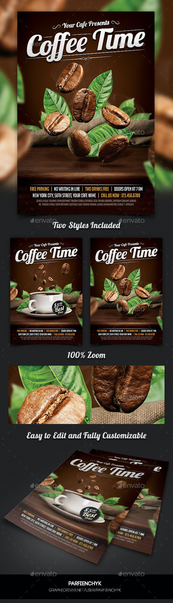Coffee Time Flyer Template - Restaurant Flyers