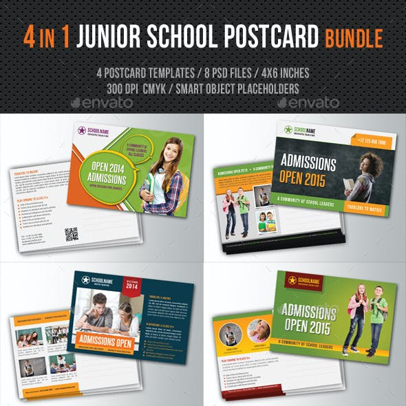 4 in 1 Junior School Promotion Postcard Bundle 02