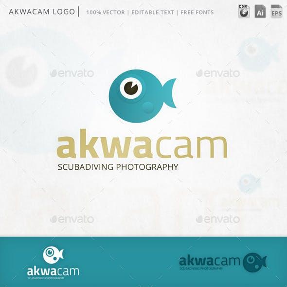 Akwacam Fish Camera Logo Template