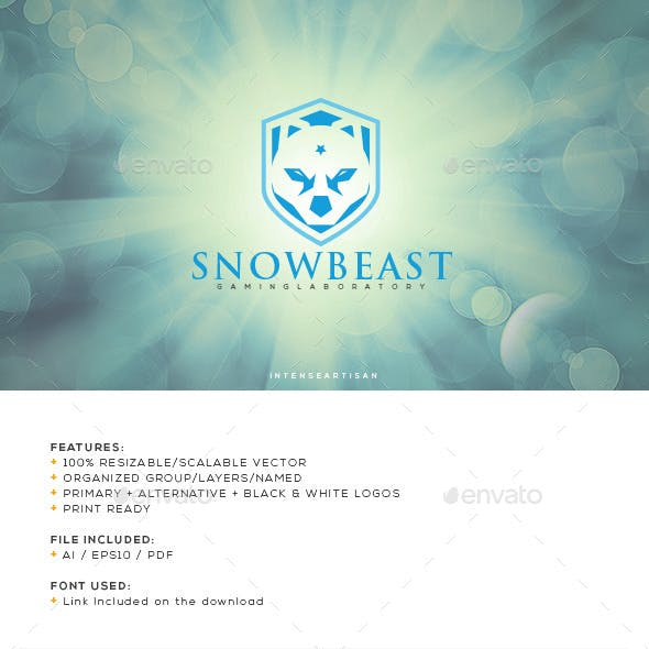 Snow Beast Logo Template