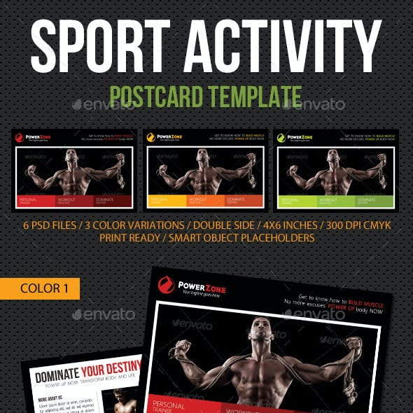 Sport Activity Postcard Template V09