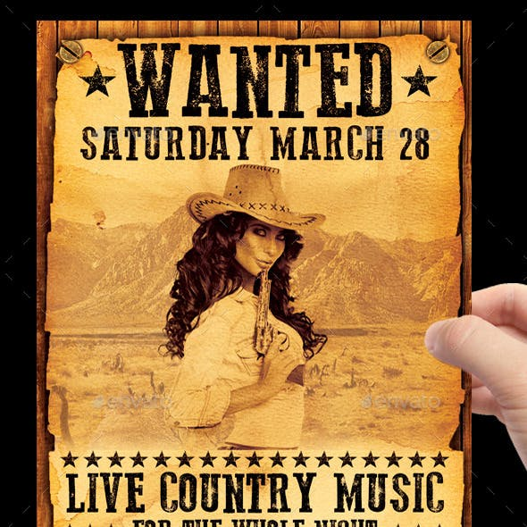 Country / Wanted Flyer