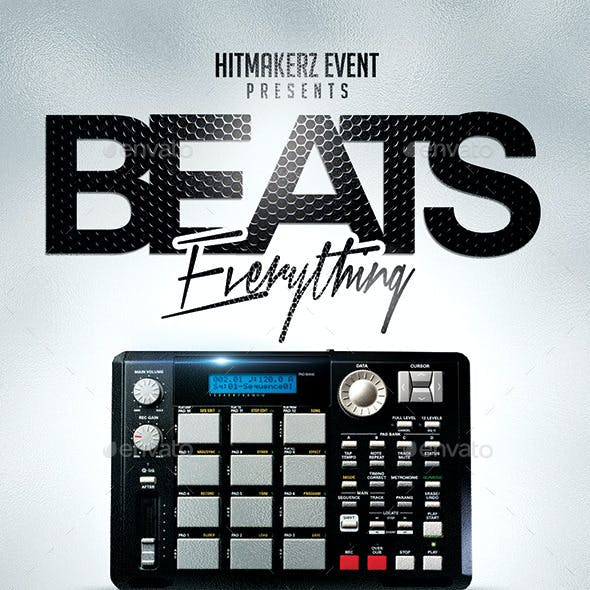 Beats Everything | Flyer PSD Template