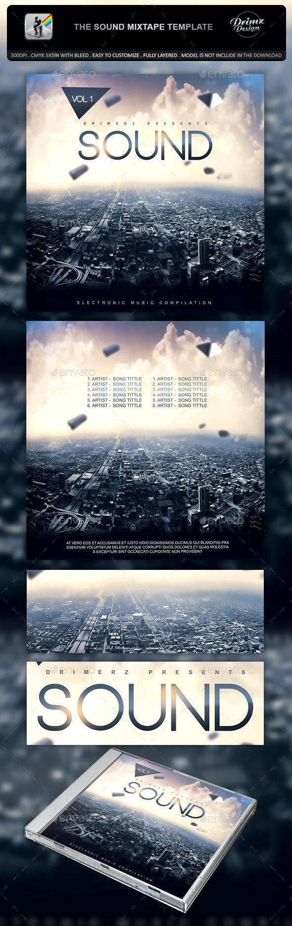 The Sound Mixtape Template - CD & DVD Artwork Print Templates