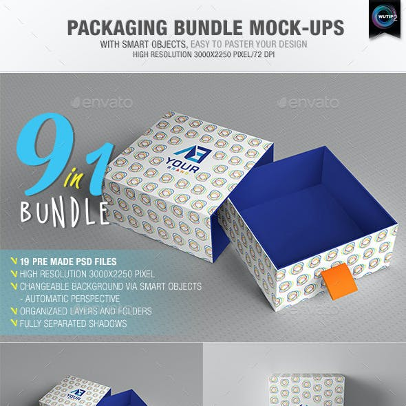Packaging Bundle Mock-Ups