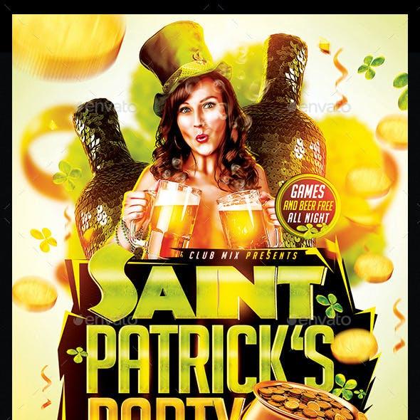 Saint Patricks Party   Flyer Template PSD