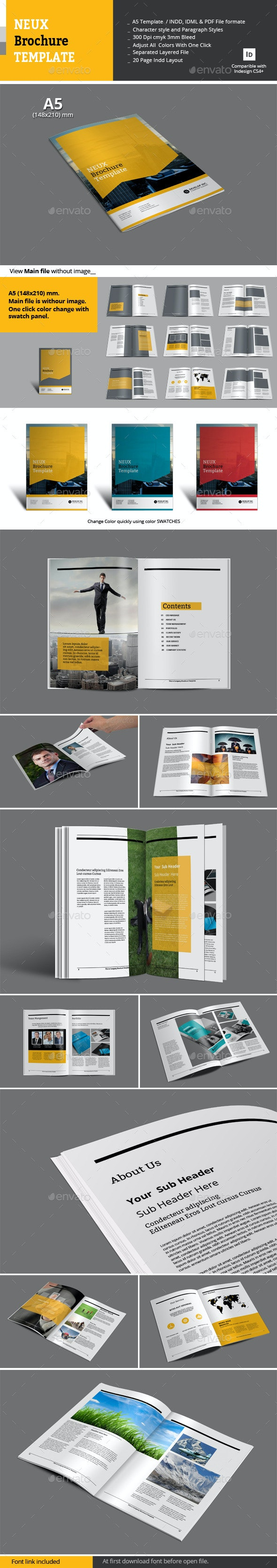 Neux Brochure Templates - Corporate Brochures