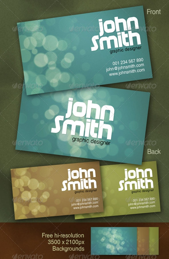 Bokeh Business Card - Creative Business Cards