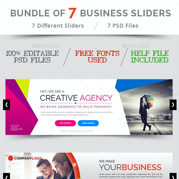 Bundle of 7 Business Sliders