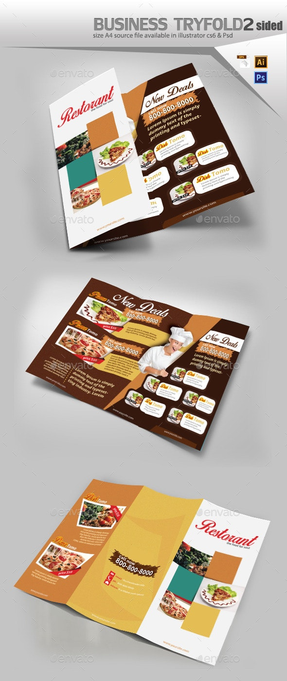 Restaurant Menu Design  - Brochures Print Templates