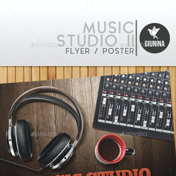 Music Studio II Flyer/Poster