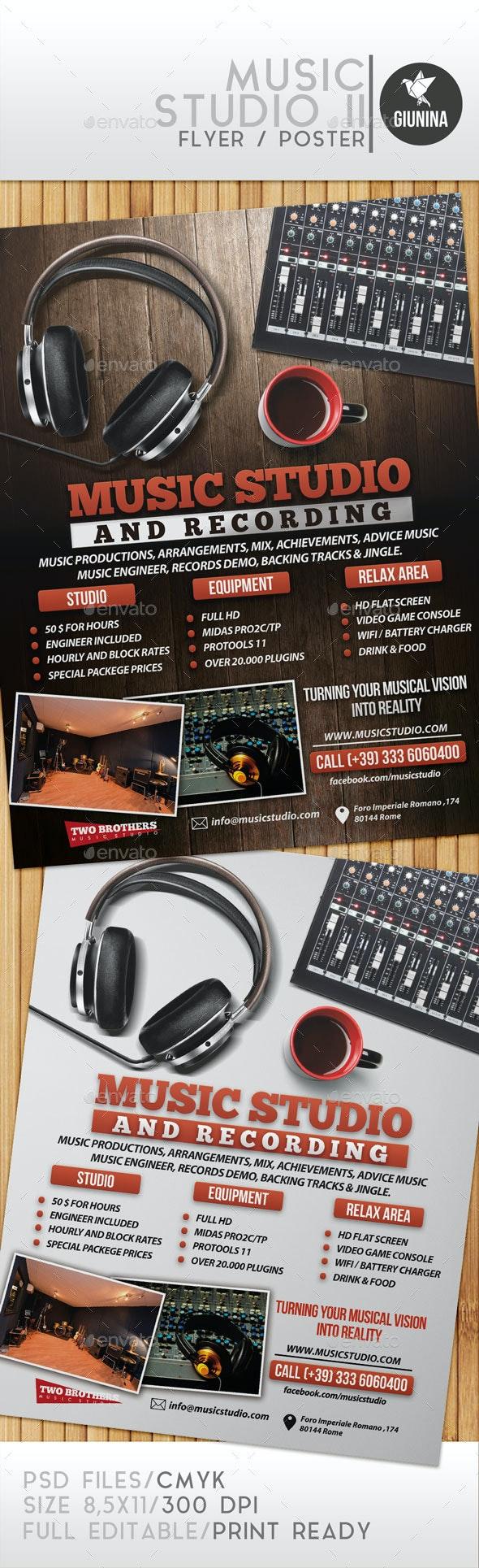 Music Studio II Flyer/Poster - Commerce Flyers