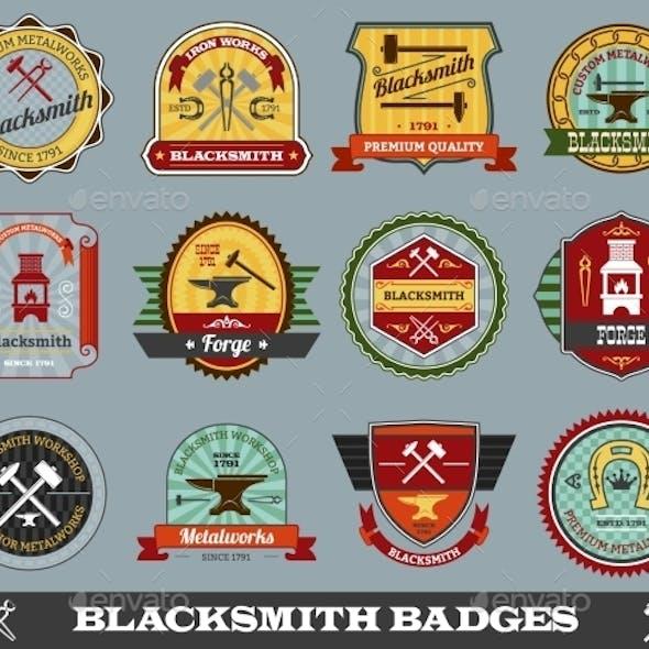 Blacksmith Badges Set