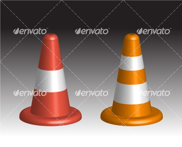 3D Traffic Cones - Man-made Objects Objects