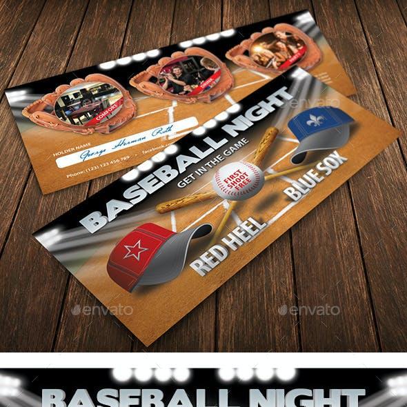Baseball Night Invitation