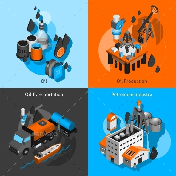 Petroleum Isometric Set - Miscellaneous Vectors