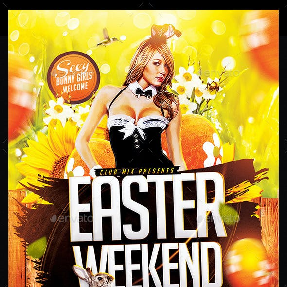 Easter Weekend Party | Flyer Template PSD