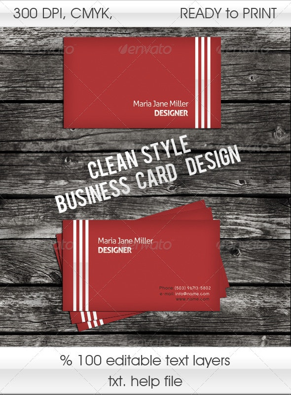 3 Striped Stylish Business Card - Corporate Business Cards