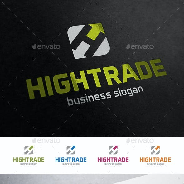 High Trade H Letter Logo Template