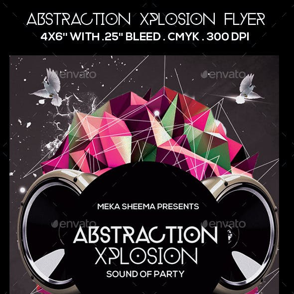 Abstraction Xplosion Flyer