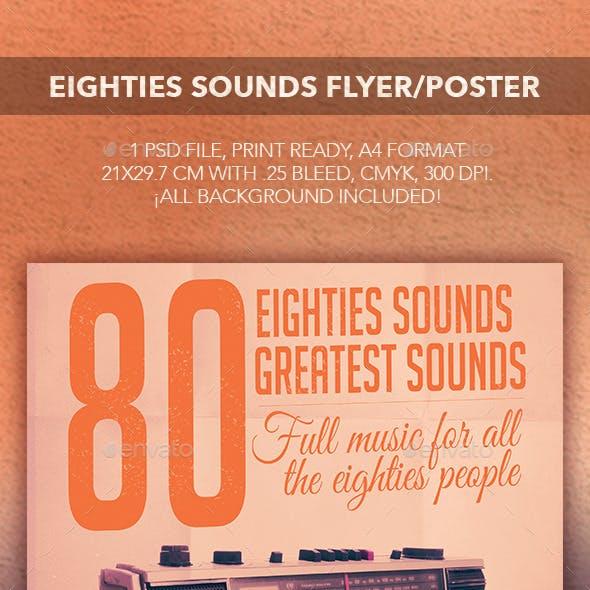 Eighties Sounds Flyer/Poster