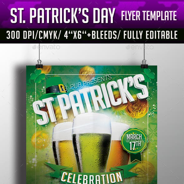 St. Patrick's Day Flyer Template