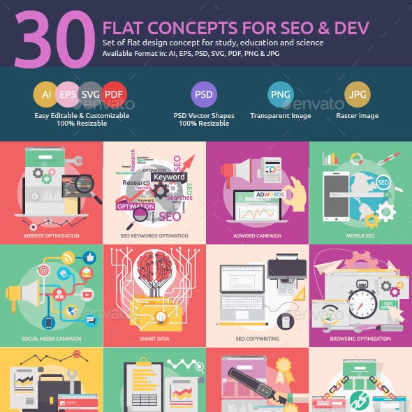 Flat Concepts for SEO & Development